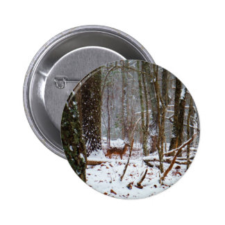 Deer in the snow fall button
