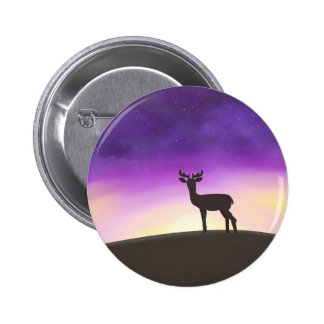 Deer in the sunset pin