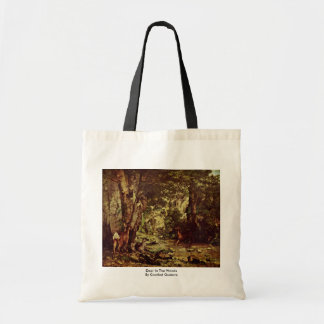 Deer In The Woods By Courbet Gustave Bag