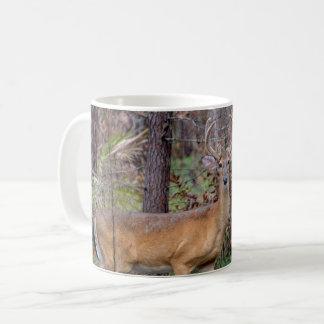Deer in the woods coffee mug