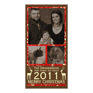 Deer it's Christmas! Holiday Christmas Photocard Customized Photo Card