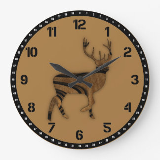 Deer Large Clock