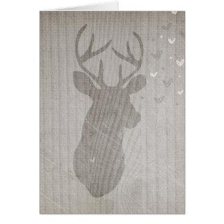 Deer Love   Buck Card