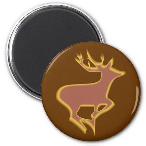 Deer more deer fridge magnet