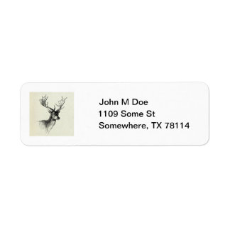 Deer Mount Address Label Template