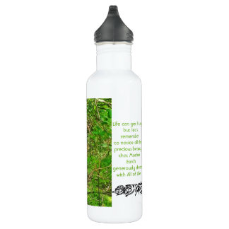 Deer Nature Mindfulness White Water Bottle 24oz 710 Ml Water Bottle