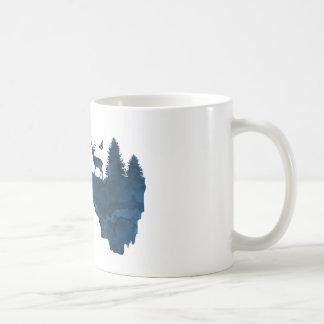 Deer on a floating island coffee mug