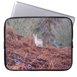 Deer on a hill laptop sleeve