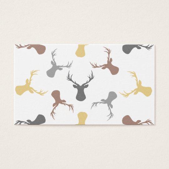 Deer pattern - beige, brown, grey and black. business card