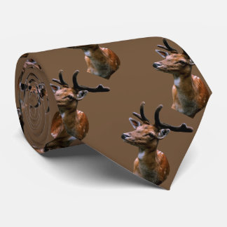 Deer pattern on any background color tie