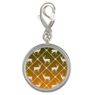 Deer pattern on gradient background