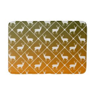 Deer pattern on gradient background bath mat