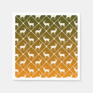 Deer pattern on gradient background disposable serviette
