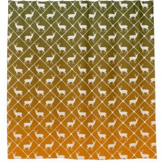 Deer pattern on gradient background shower curtain