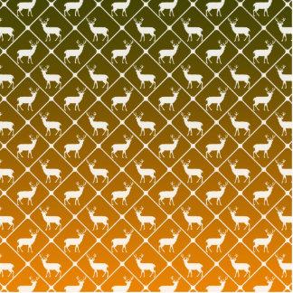 Deer pattern on gradient background standing photo sculpture