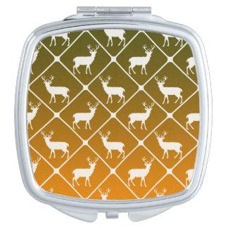 Deer pattern on gradient background vanity mirror