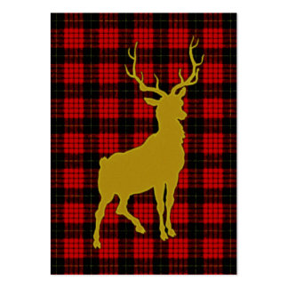 Deer Plaid Pack Of Chubby Business Cards