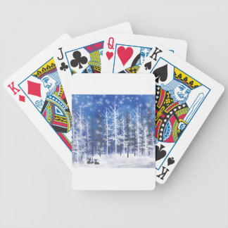 Deer resting bicycle playing cards