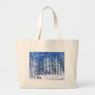 Deer resting large tote bag
