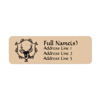 Deer Return Address Label
