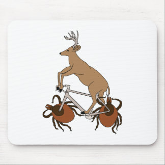 Deer Riding Bike With Deer Tick Wheels Mouse Pad