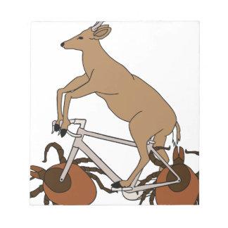 Deer Riding Bike With Deer Tick Wheels Notepad