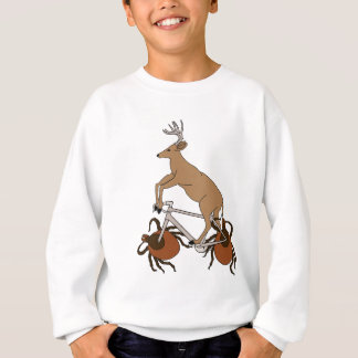 Deer Riding Bike With Deer Tick Wheels Sweatshirt
