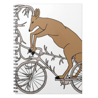 Deer Riding His Antler Bike Notebooks