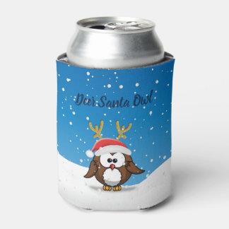 Deer Santa Owl Can Cooler
