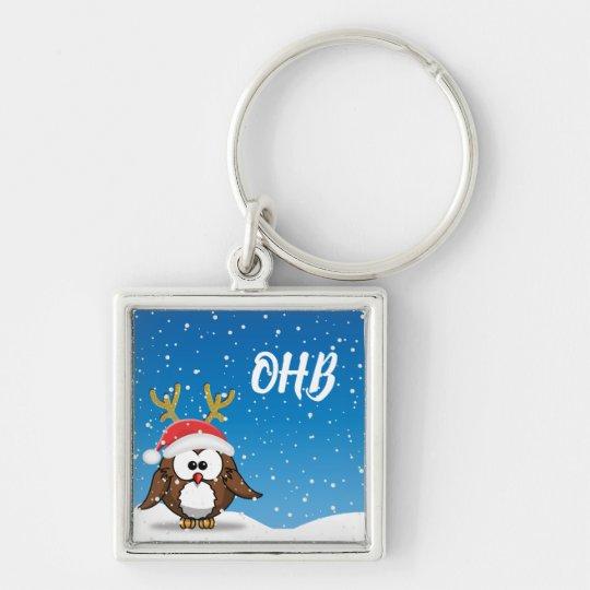 Deer Santa Owl Key Ring