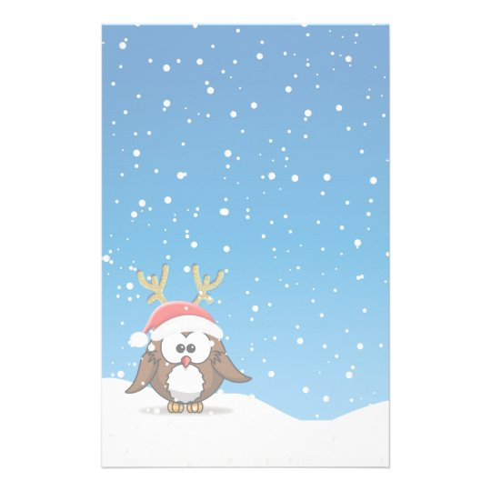 Deer Santa Owl Stationery