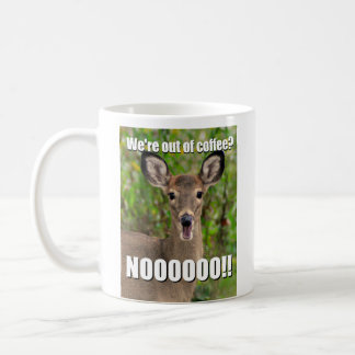 Deer screaming meme mug