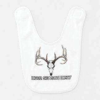Deer Season Dirty baby bib