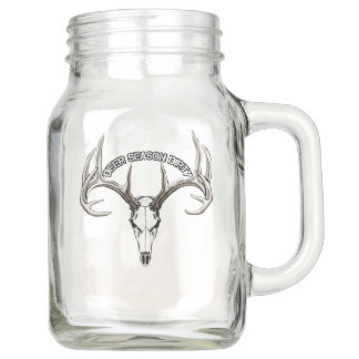 Deer Season Dirty mason jar with Handle