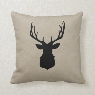 Deer Shadow | Rustic Holiday Decor Pillow