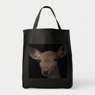 Deer Shopping bag-Stock market of purchase red Grocery Tote Bag