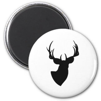 Deer Silhouette 6 Cm Round Magnet