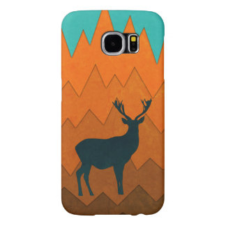 Deer silhouette autumn fall colorful design samsung galaxy s6 cases
