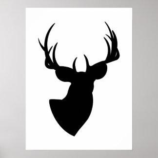 Deer Silhouette Poster