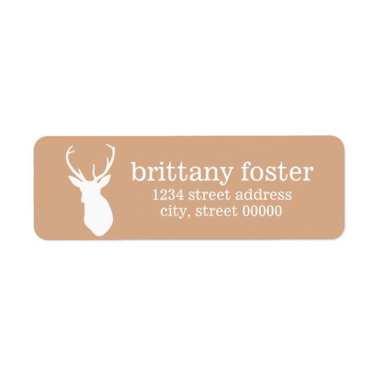 Deer Silhouette Return Address Labels