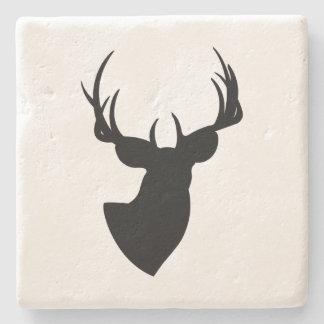 Deer Silhouette Stone Beverage Coaster