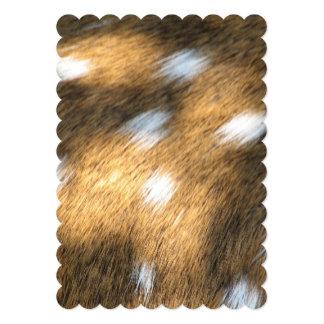 Deer Skin Print 13 Cm X 18 Cm Invitation Card