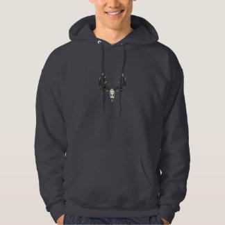 Deer skull 5 hooded pullover