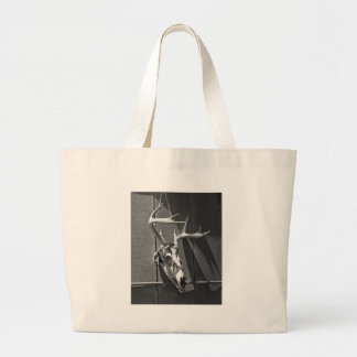 Deer Skull and Antlers in Black and White Canvas Bags