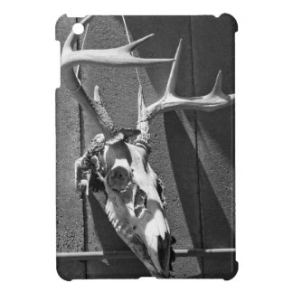 Deer Skull and Antlers in Black and White iPad Mini Cover