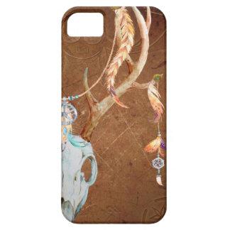 Deer Skull Antlers Native American Southwest brown iPhone 5 Cover