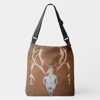 Deer Skull Antlers Native American Southwest Crossbody Bag