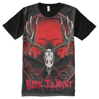 Deer skull Born to hunt All-Over Print T-Shirt