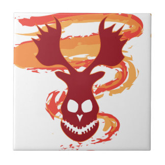 Deer Skull Ceramic Tile