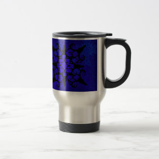 Deer Skull design in blue Coffee Mugs